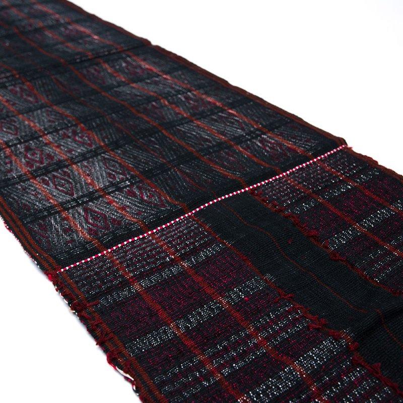 画像4:チン族 手織布とビーズのテーブルクロス Type.1