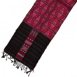 チン族 手織布とビーズのテーブルクロス Type.1