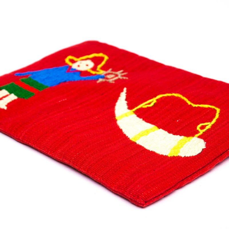 ミャンマー ナガ族 民族手刺繍のポーチ Type.2