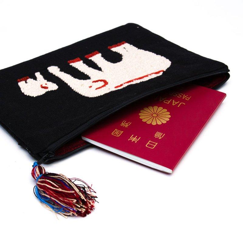 画像2:ミャンマー チン族 民族手刺繍のポーチ Type.1