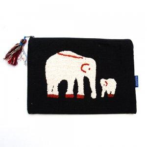 ミャンマー チン族 民族手刺繍のポーチ Type.1