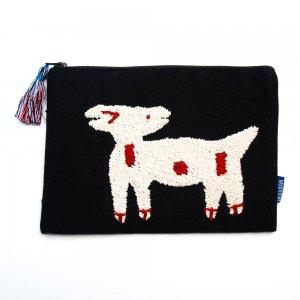 ミャンマー チン族 民族手刺繍のポーチ Type.2