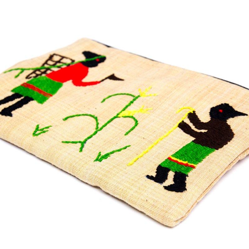 画像4:ミャンマー ナガ族 民族手刺繍のポーチ Type.2