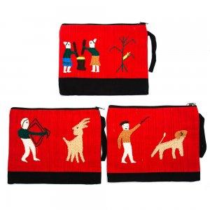 ミャンマー ナガ族 手刺繍のタブレットケース Type.2