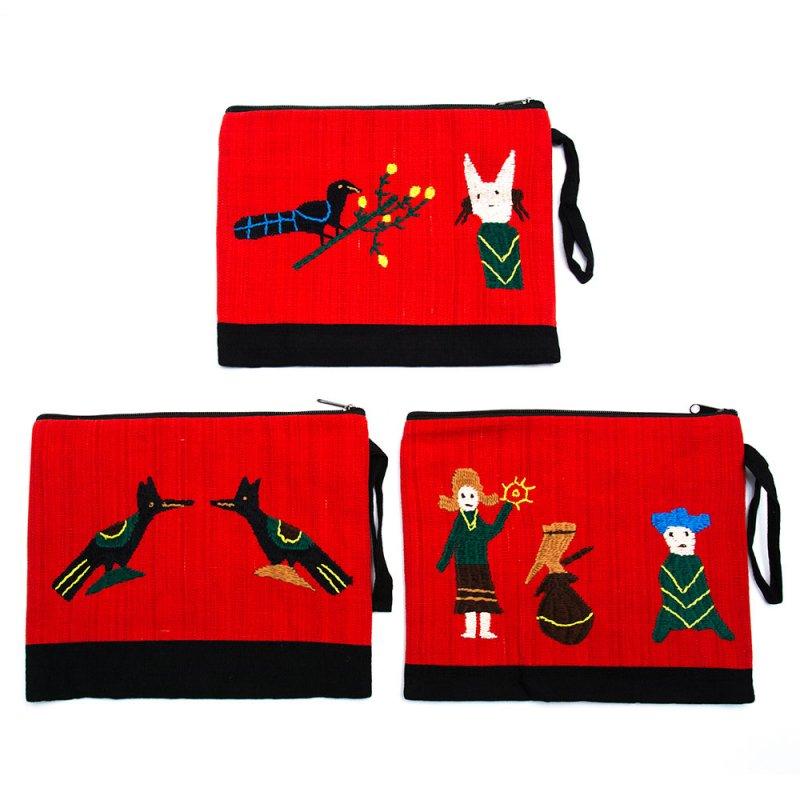 ミャンマー ナガ族 手刺繍のタブレットケース Type.3