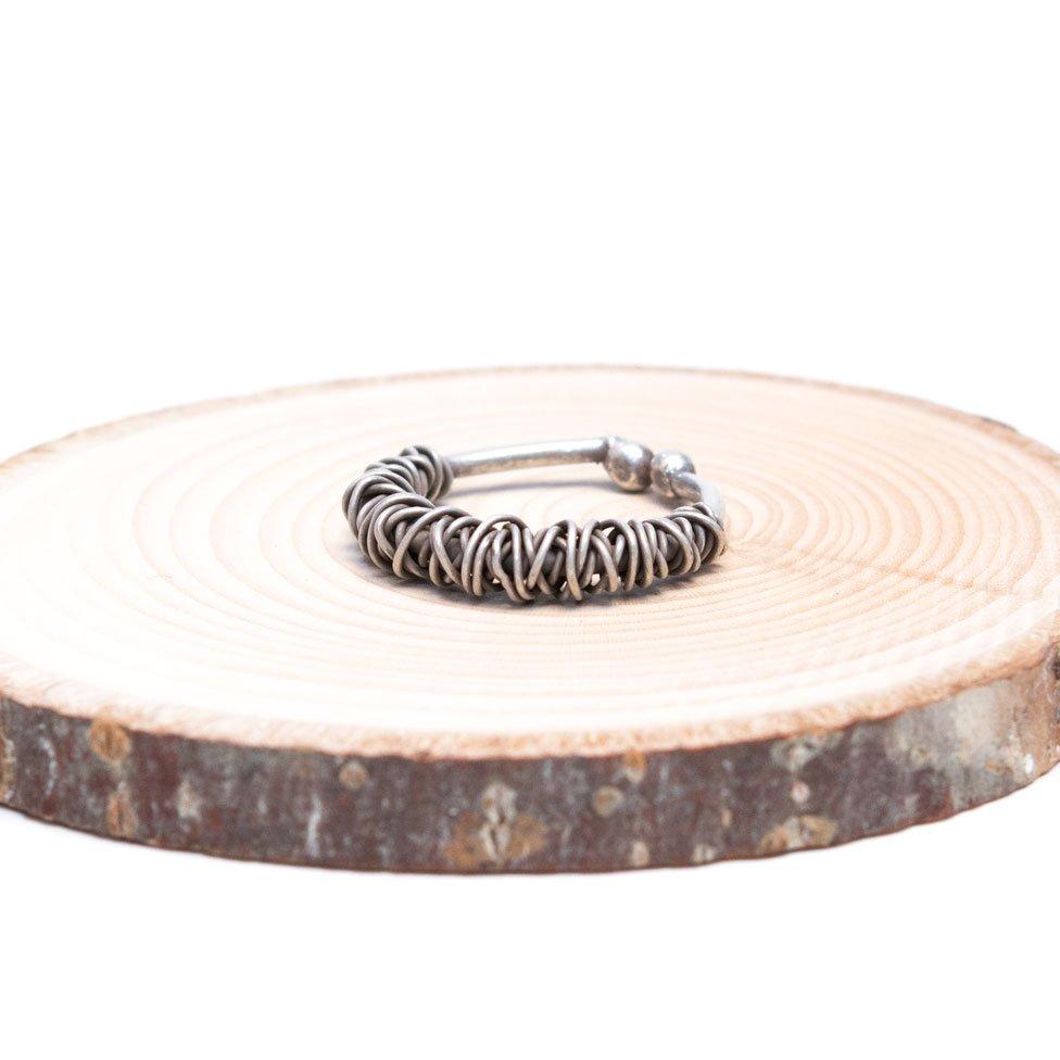 【カレン族シルバー】無骨なデザインのワイヤーリング