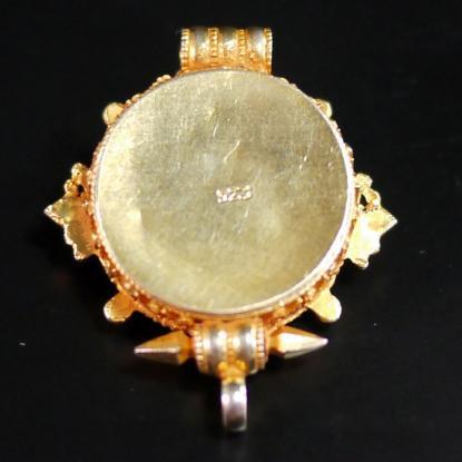 画像2:【チベット密教仏具】ガウ(Ghau)/曼荼羅/シルバー/金装飾/ペンダント