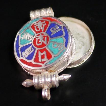 【チベット密教仏具】ガウ(Ghau)ペンダントトップ Type.2