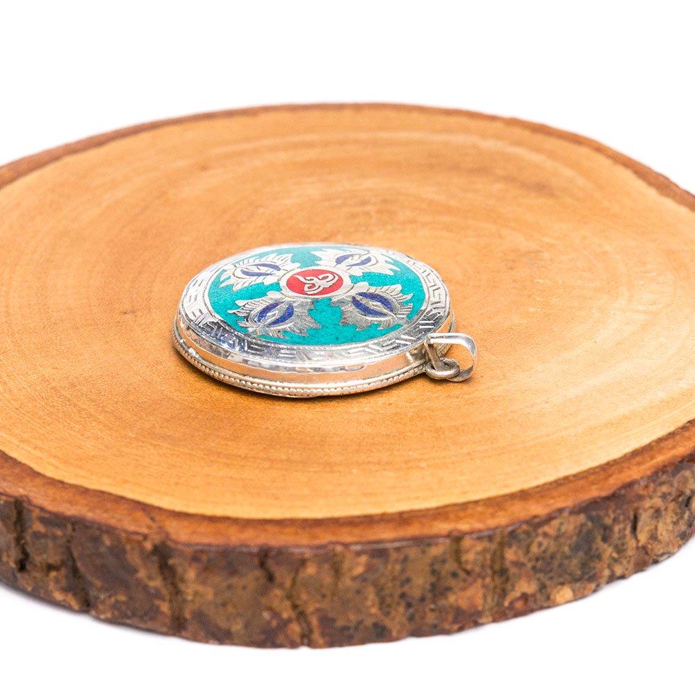画像2:【チベット密教仏具】ドルジェ(五鈷杵)/梵字/シルバー/ペンダント