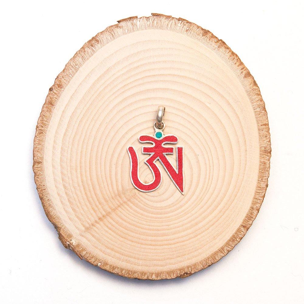 【チベット密教仏具】梵字(OM)モチーフのペンダントトップ Type.1