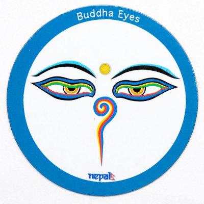 【ブッダアイ・モチーフのマグネット】チベット民族 アジアン雑貨 ネパール雑貨 エスニック