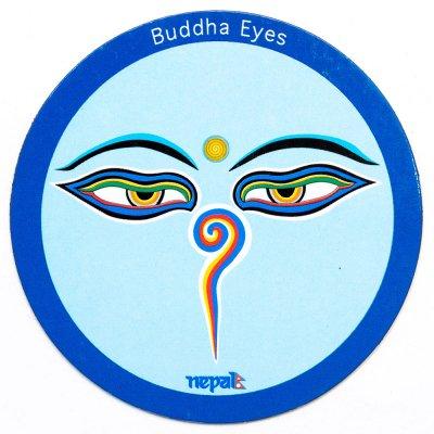 【ブッダアイ・モチーフのマグネット】チベット民族 アジアン雑貨 ネパール小物 エスニックファッション