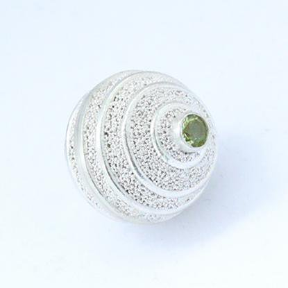 ガムランボール(S)【ペリドット】/アスタリスク/ドットデザイン/バリ雑貨/銀細工
