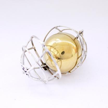 画像3:ガムランボール(L)【シトリン】アンティークバスケット/天然石/バリ雑貨/銀細工