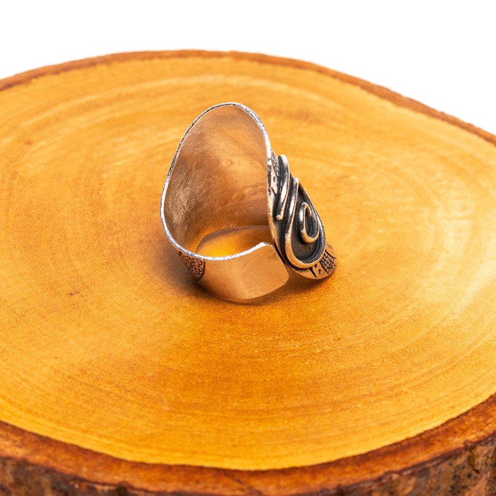 画像2:【カレン族シルバー リング・指輪】渦巻き文様のヒルトライブリング(hill tribe silver)