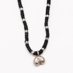 【カレンシルバー】ビーンズ形状シルバートップのシンプルなネックレス