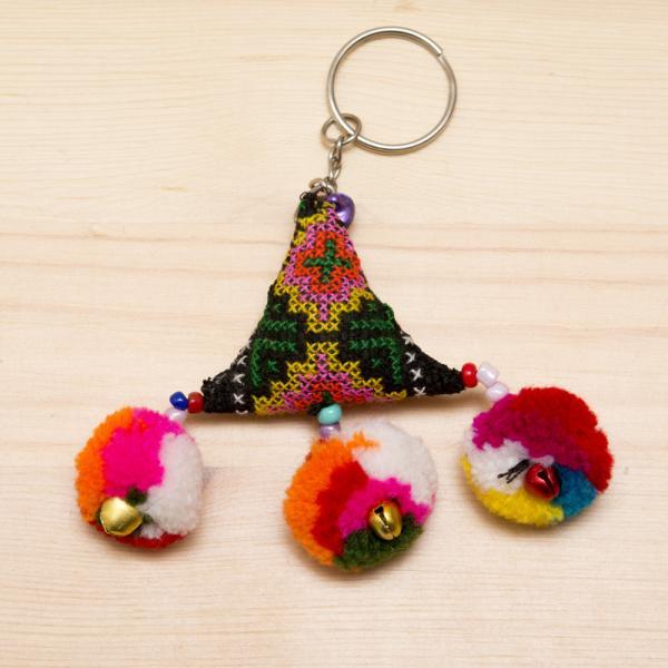 【タイ 民族雑貨】リス族手作りのキーホルダー/エスニックファッション