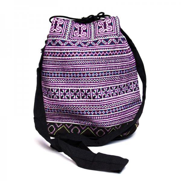 モン族 民族刺繍古布を使用したショルダーバッグ