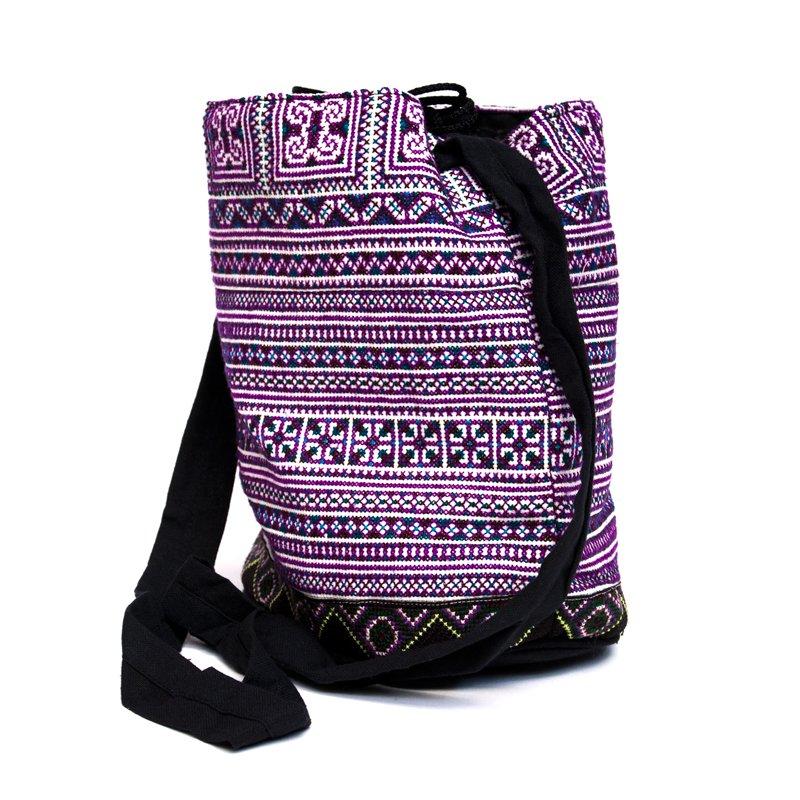 画像2:モン族 民族刺繍古布を使用したショルダーバッグ