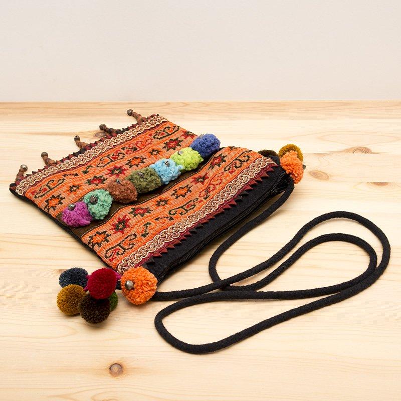 画像3:【モン族バッグ】モン族古布を使用した大人のポシェット|タイ民族ファッション