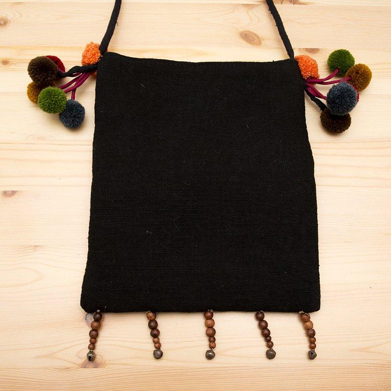 画像4:【モン族バッグ】モン族古布を使用した大人のポシェット|タイ民族ファッション