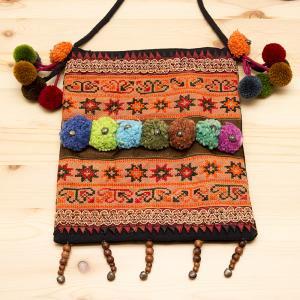 【モン族バッグ】モン族古布を使用した大人のポシェット|タイ民族ファッション