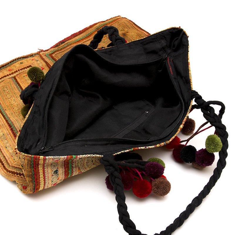 画像3:モン族古布のヴィンテージトートバッグ|タイ民族雑貨