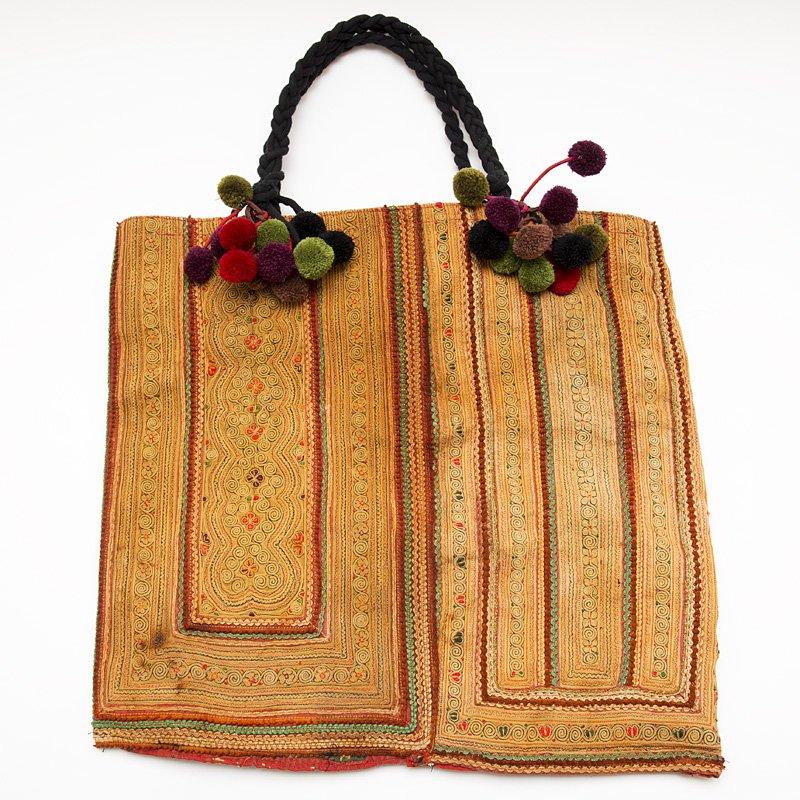 画像4:モン族古布のヴィンテージトートバッグ|タイ民族雑貨