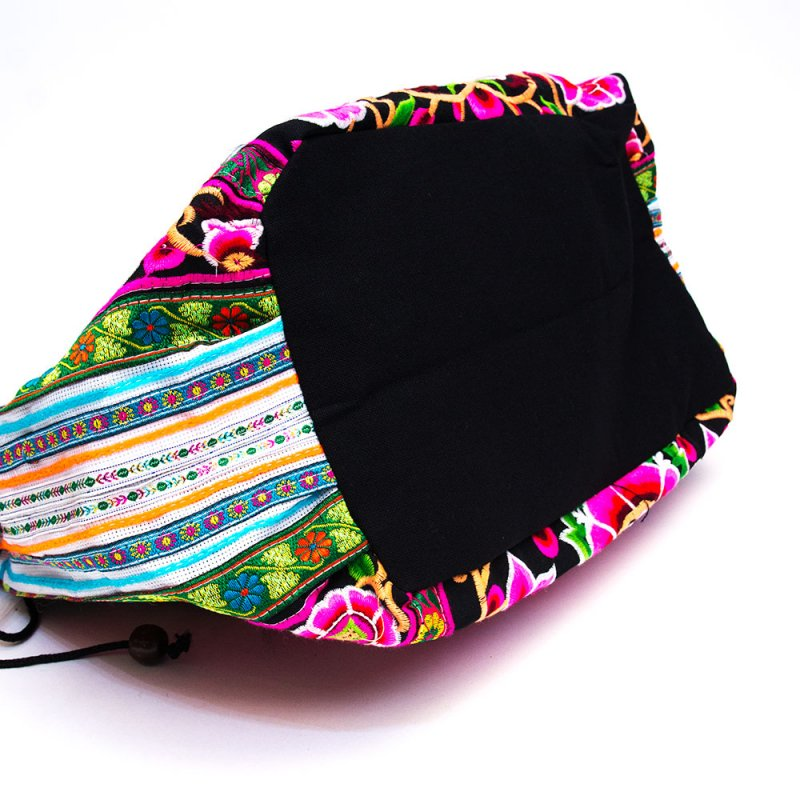 画像4:モン族のポンポン付トートバッグ/エスニック/タイ民族雑貨