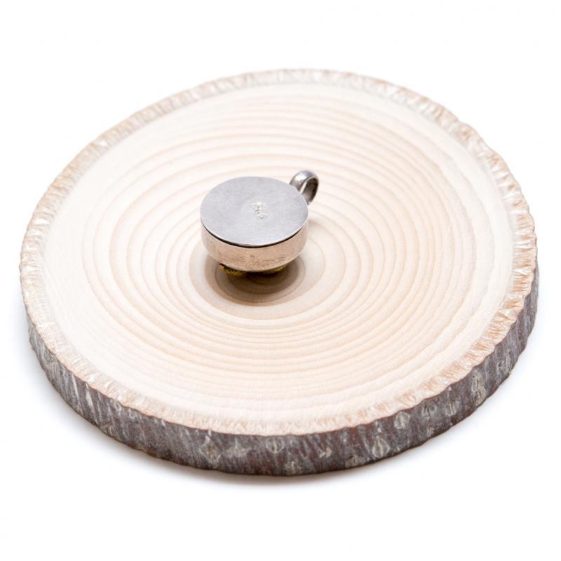 画像4:【チベット密教仏具】法螺貝(シャンカ)が刻まれたガウペンダント/シルバー925