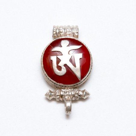 画像2:【チベット密教仏具】ガウ(Ghau)/真言(OM)/シルバー/チベタンペンダント