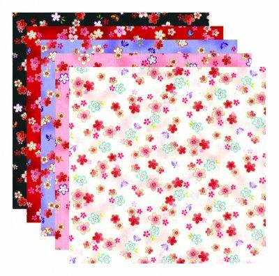 風呂敷  17小桜/乳白・桃・紫・赤・黒