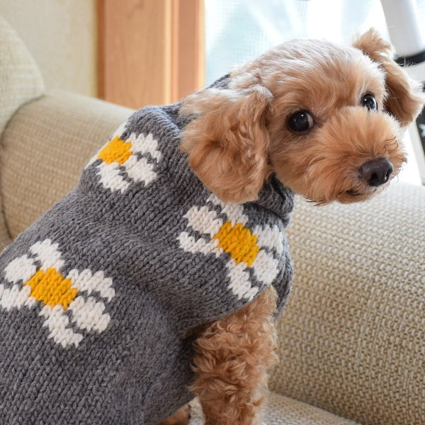 <img class='new_mark_img1' src='//img.shop-pro.jp/img/new/icons57.gif' style='border:none;display:inline;margin:0px;padding:0px;width:auto;' />【Chilly Dog Sweaters】ウール100% ドッグセーター Daisy Dog Sweater