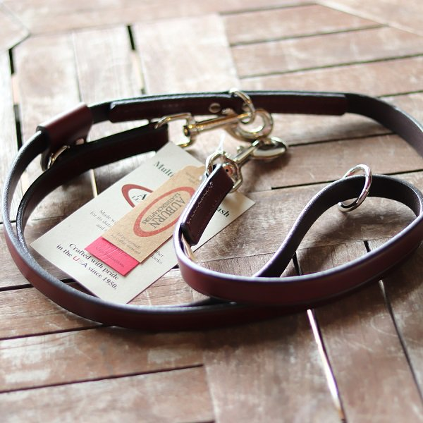 【Auburn Leathercrafters】Leather Multi-Function Leash  (レザー マルチファンクション リーシュ)