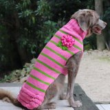 <img class='new_mark_img1' src='//img.shop-pro.jp/img/new/icons13.gif' style='border:none;display:inline;margin:0px;padding:0px;width:auto;' />【Chilly Dog Sweaters】ウール100% ドッグセーター Pink Flowered Skirt Sweater