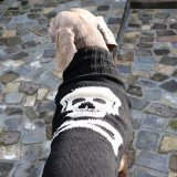 <img class='new_mark_img1' src='https://img.shop-pro.jp/img/new/icons57.gif' style='border:none;display:inline;margin:0px;padding:0px;width:auto;' />【Chilly Dog Sweaters】ウール100% ドッグセーター Black Skull Dog Sweater