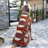 【Chilly Dog Sweaters】裏ボアドッグコート Brown Southwest Blanket Coat