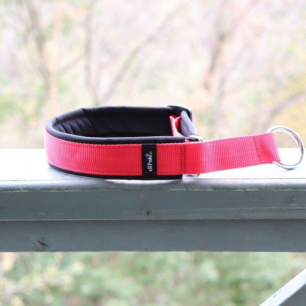 【eRPaki】 ドイツ製ハーフチョークカラー 4.0cm幅 (テープ幅30mm) Red×Black ★レターパックOK★