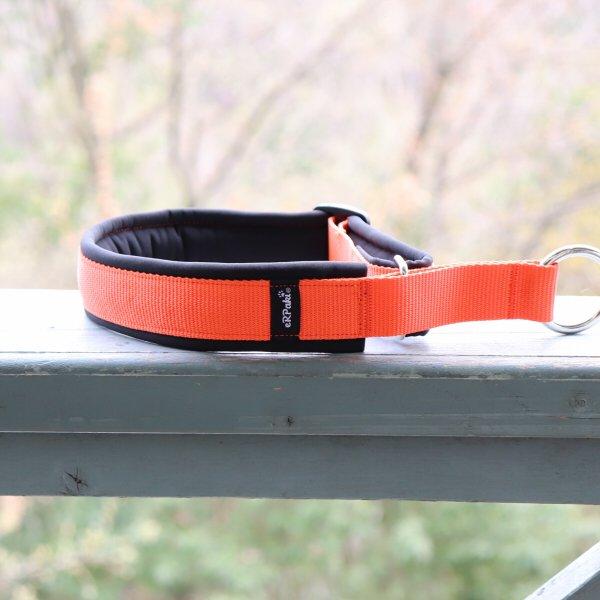 【eRPaki】 ドイツ製ハーフチョークカラー 4.0cm幅 (テープ幅30mm) Orange×Black ★レターパックOK★