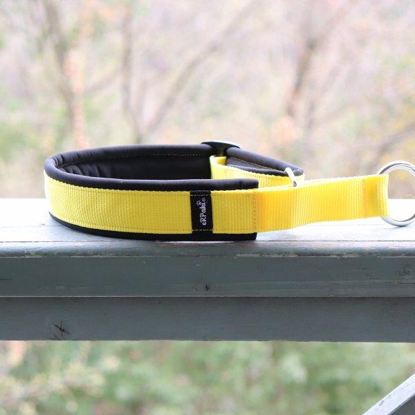 【eRPaki】 ドイツ製ハーフチョークカラー 4.0cm幅 (テープ幅30mm) Yellow×Black ★レターパックOK★