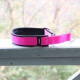 【eRPaki】 ドイツ製ハーフチョークカラー 4.0cm幅 (テープ幅30mm) Pink×Black ★レターパックOK★
