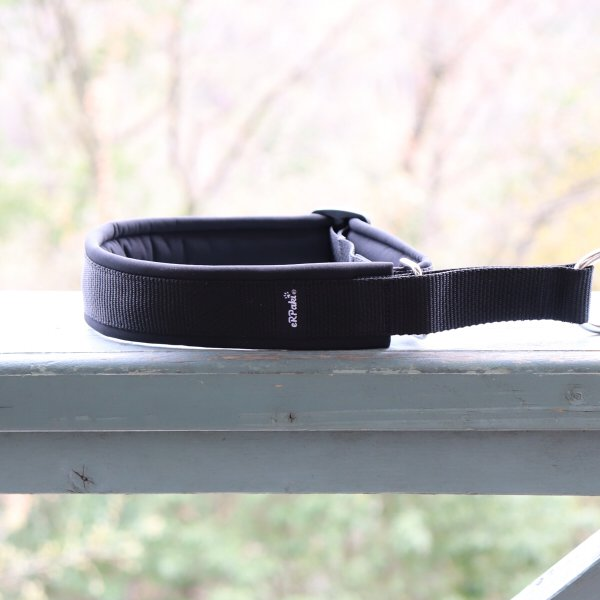 【eRPaki】 ドイツ製ハーフチョークカラー 4.0cm幅 (テープ幅30mm) Black×Black ★レターパックOK★
