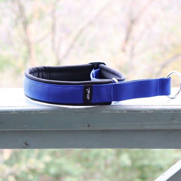 【eRPaki】 ドイツ製ハーフチョークカラー 4.0cm幅 (テープ幅30mm) Royal blue×Black ★レターパックOK★