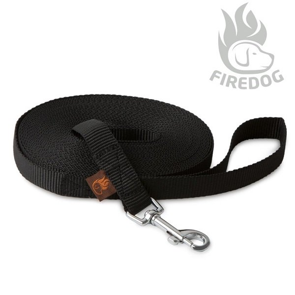 <img class='new_mark_img1' src='//img.shop-pro.jp/img/new/icons5.gif' style='border:none;display:inline;margin:0px;padding:0px;width:auto;' />【FIREDOG】Tracking leash Black 20mm幅 (軽量トラッキングリーシュ/ブラック)