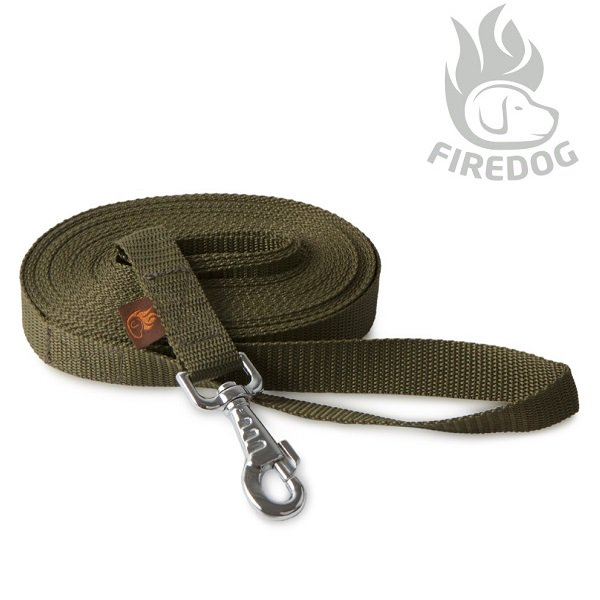 <img class='new_mark_img1' src='//img.shop-pro.jp/img/new/icons5.gif' style='border:none;display:inline;margin:0px;padding:0px;width:auto;' />【FIREDOG】Tracking leash Black 25mm幅 (軽量トラッキングリーシュ/カーキ)