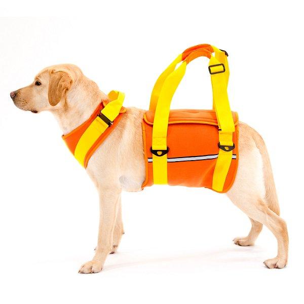 ★送料無料★ 【LaLaWalk】歩行補助ハーネス大型犬用 ネオプレーンオレンジ (メーカー直送商品)