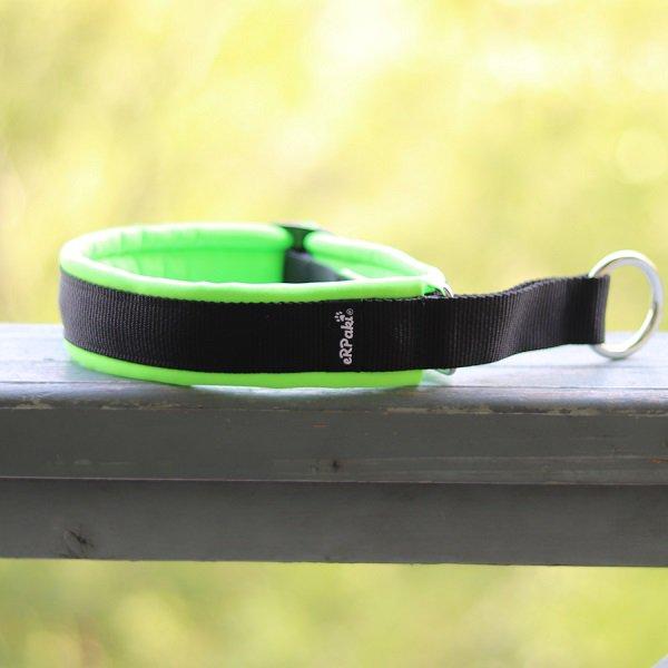 【eRPaki】 ドイツ製ハーフチョークカラー 4.0cm幅 (テープ幅30mm) Black×Neon green ★レターパックOK★