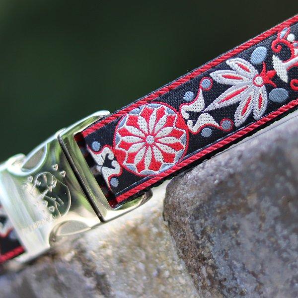 《チャリティー商品》【DIVA DOG】バックルカラー2.5cm幅 (Carnelian Red)★レターパックOK★