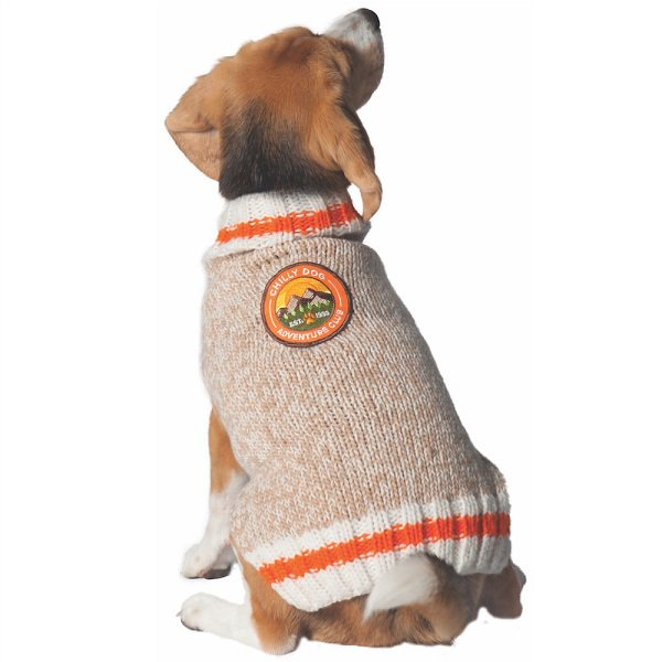 【Chilly Dog Sweaters】ウール100% ドッグセーター Adventure Club Dog Sweater