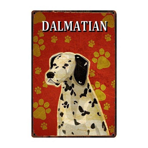 ★数量定商品★犬種別メタルサイン (ダルメシアン)★レターパックOK★